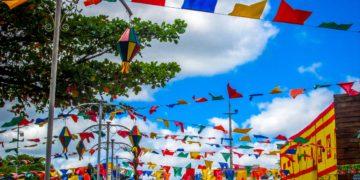 bandeiras balões festa junina folclore