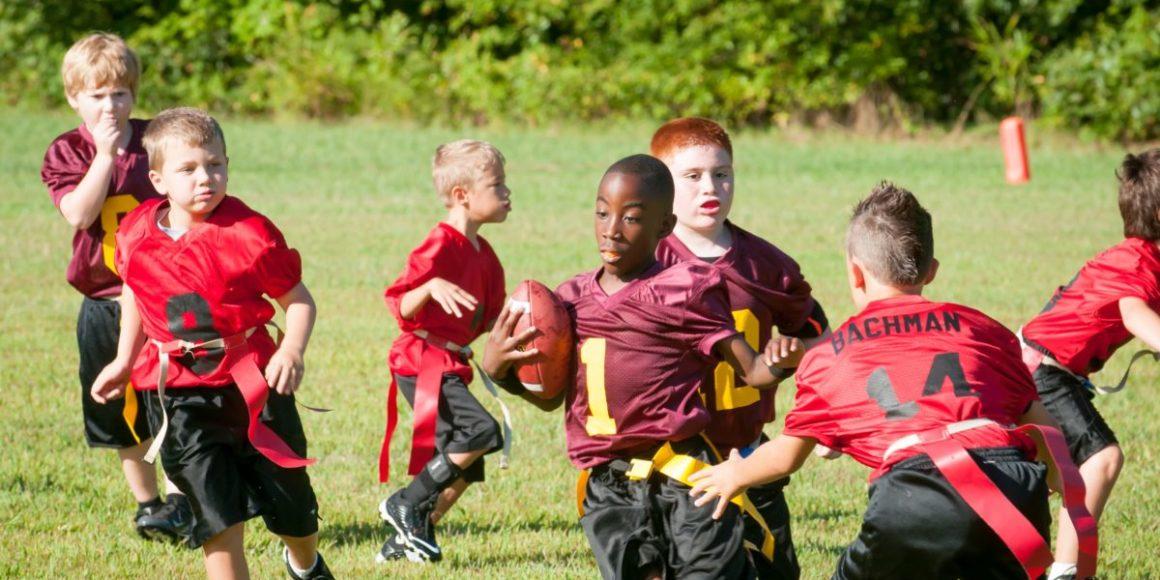 flagball futebol esporte crianças