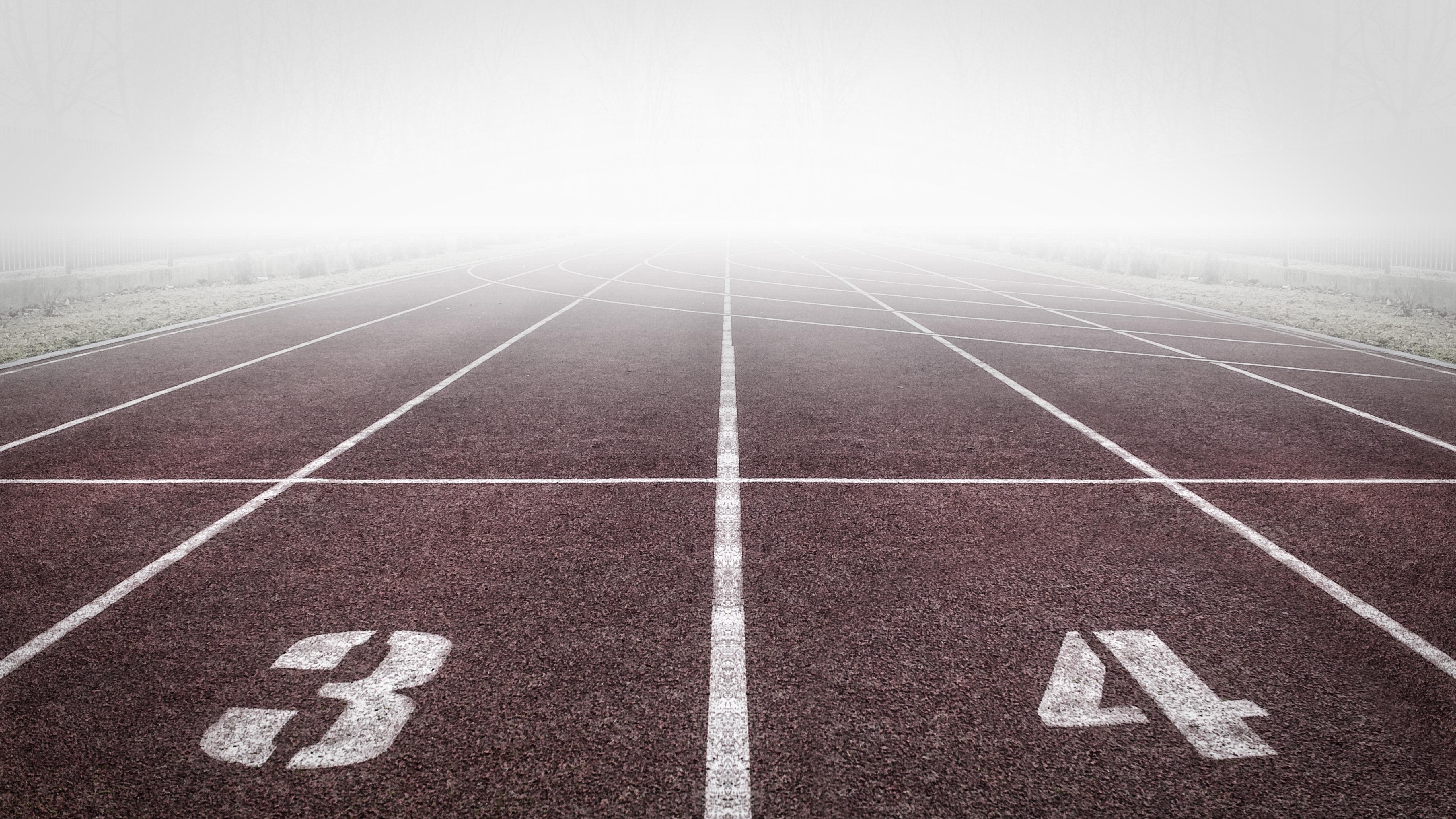 pista de corrida atletismo expressões no esporte
