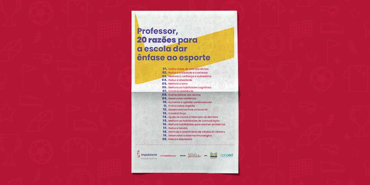 Cartaz com razões para a Educação Física ser valorizada