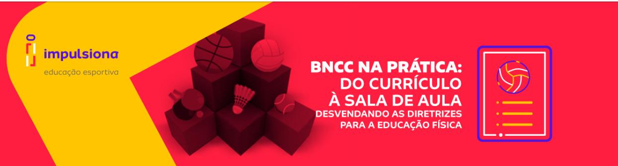 capa do curso da bncc com fundo vermelho e texto com o título BNCC na Prática do currículo a sala de aula