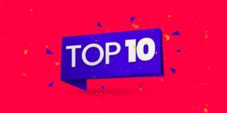 top 10 escrito em branco no fundo azul e vermelho