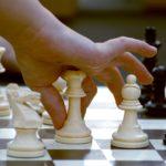 mão movimento pela de xadrez