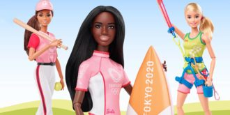 barbie surfista, escalada e softball