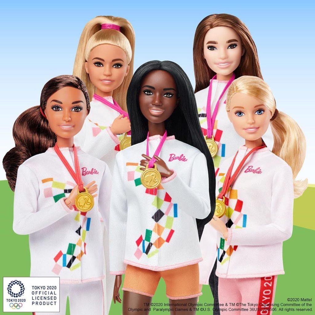 barbies com medalha de ouro