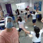 aula educação física retorno aulas presenciais