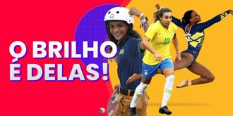 As atletas Olímpicas Rayssa Leal, Marta e Rebeca Andrade