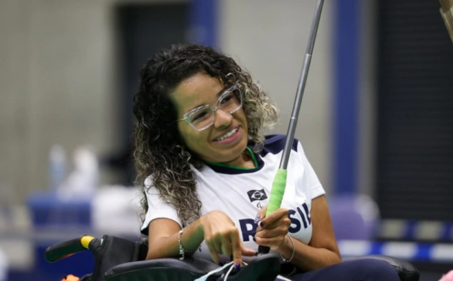 Atleta Paralímpica da bocha Evelyn de Oliveira