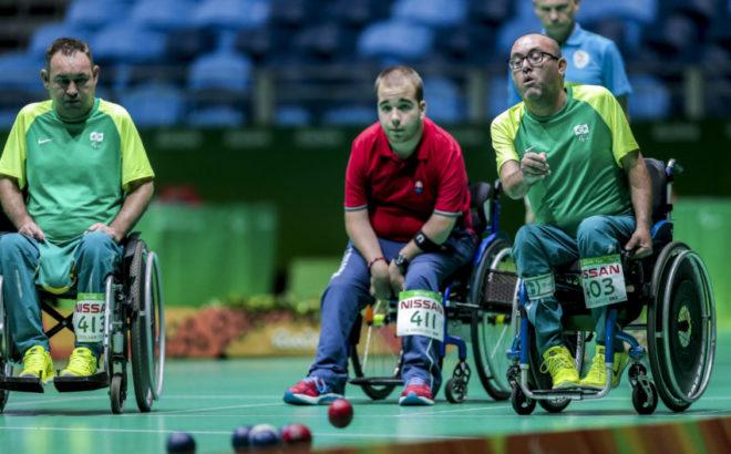 Bocha classe BC4 entre Brasil e Grã-Bretanha nos Jogos Paralímpicos do Rio 2016
