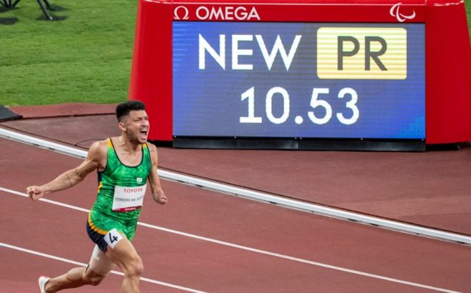 Petrúcio Ferreira no atletismo dos Jogos Paralímpicos de Tóquio 2020.