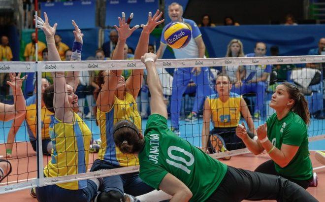 Seleção feminina de vôlei sentado nos Jogos Paralímpicos do Rio 2016